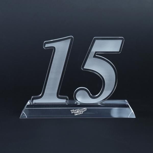 15 Years Acrylic Award Awards & Recognition Awards New Products AWA1002LogoHD