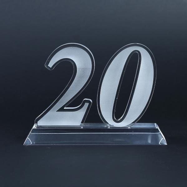 20 Years Acrylic Award Awards & Recognition Awards New Products AWA1003HD