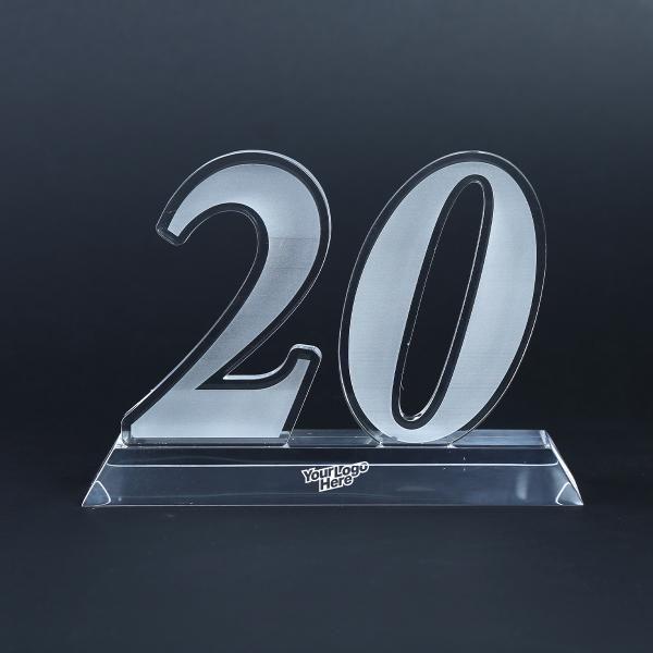20 Years Acrylic Award Awards & Recognition Awards New Products AWA1003LogoHD