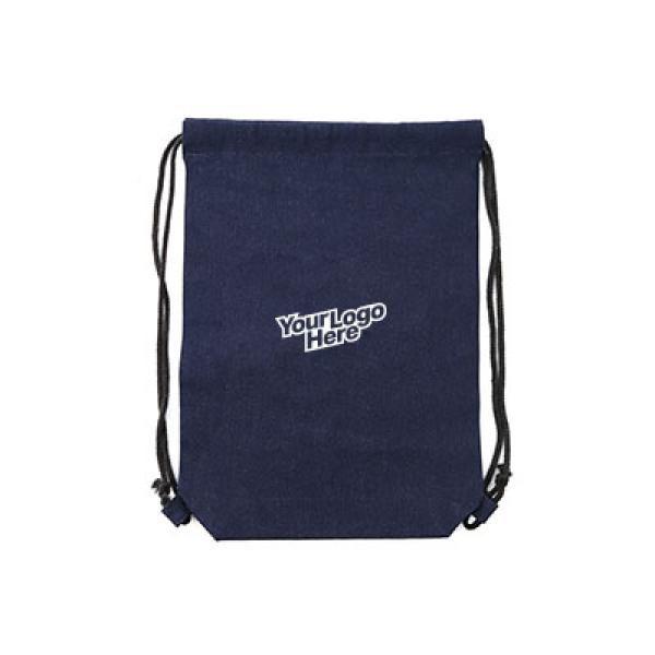 Denim Drawstring Bag Drawstring Bag Bags NATIONAL DAY TDS1012ThumbLogo