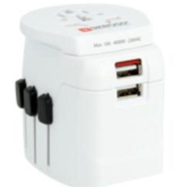 Skross Pro Light USB World Travel Adapter Electronics & Technology Travel & Outdoor Accessories SkrossProLightUSBWorldTravelAdapter