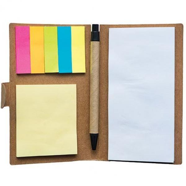 Eco Memopad with Pen Office Supplies Eco Friendly ZNO1053-1
