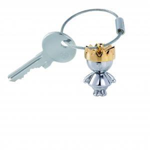 "Troika Keyring ""LITTLE KING"" Metals & Hardwares Keychains kr9-36ch"