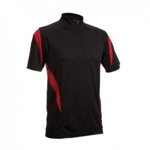 QD30 Mock Neck Tee With Zip Apparel blackred