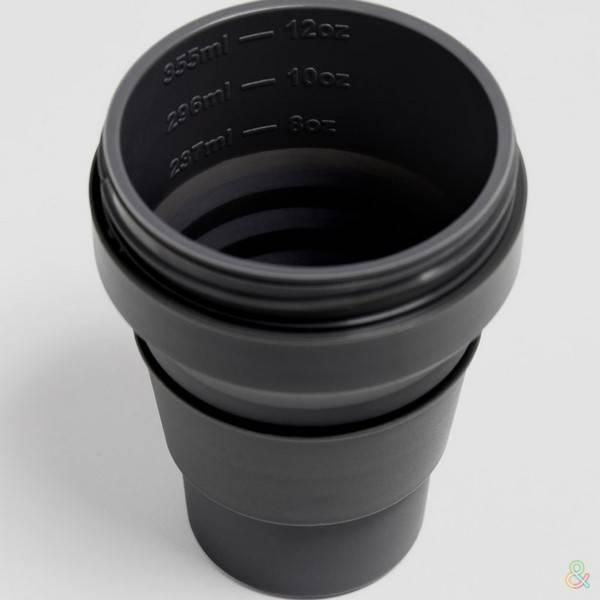 Stojo Pocket Collapsible Cup Brooklyn 12oz Household Products Drinkwares carbon3