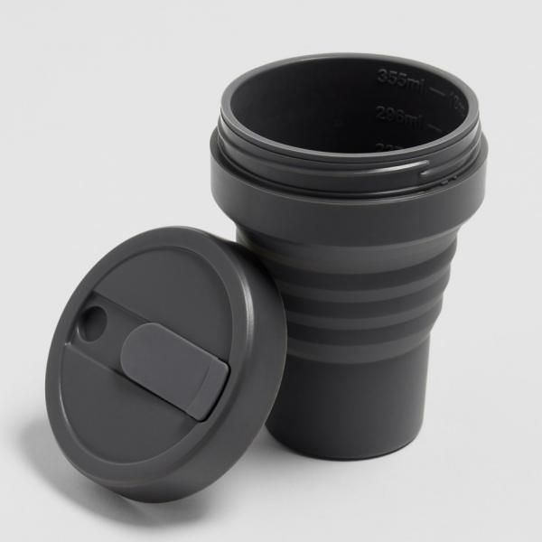 Stojo Pocket Collapsible Cup Brooklyn 12oz Household Products Drinkwares carbon4
