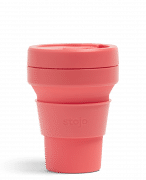 Stojo Pocket Collapsible Cup Soho 12oz Household Products Drinkwares coral1