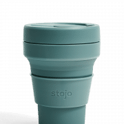 Stojo Pocket Collapsible Cup Spring 12oz Household Products Drinkwares eucalyptus1