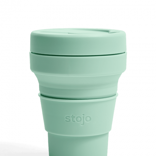 Stojo Pocket Collapsible Cup Spring 12oz Household Products Drinkwares seafoam1
