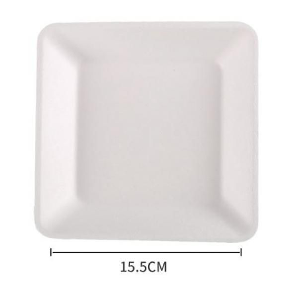15.5cm Square Paper Plate Food & Catering Packaging FPB1004