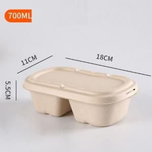 700ml 2 Compartment Bento Box Food & Catering Packaging FTF1006