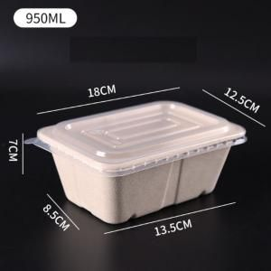 950ml Rectangle Bento Box with PP lid Food & Catering Packaging FTF1009
