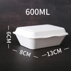 660ml Rectangle Attached Lid Bento Box Food & Catering Packaging FTF1012