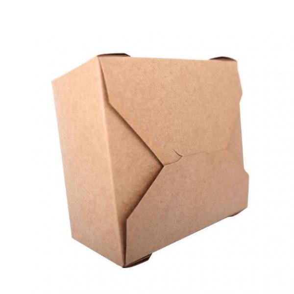 1400ml Kraft Paper Take Away Square Box Food & Catering Packaging FTF1030