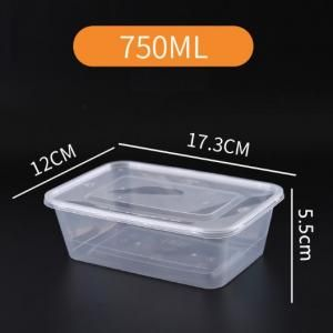 750ml Microwavable PP Bento Box Food & Catering Packaging FTF1033