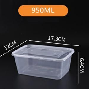 950ml Microwavable PP Bento Box Food & Catering Packaging FTF1034