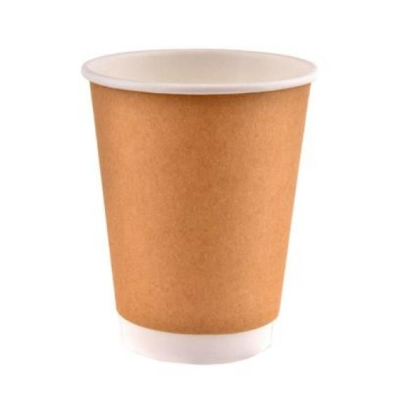 12oz Double Wall Kraft Paper Coffee Cup Food & Catering Packaging FUP1003FUP1004