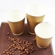 12oz Double Wall Kraft Paper Coffee Cup Food & Catering Packaging FUP1003