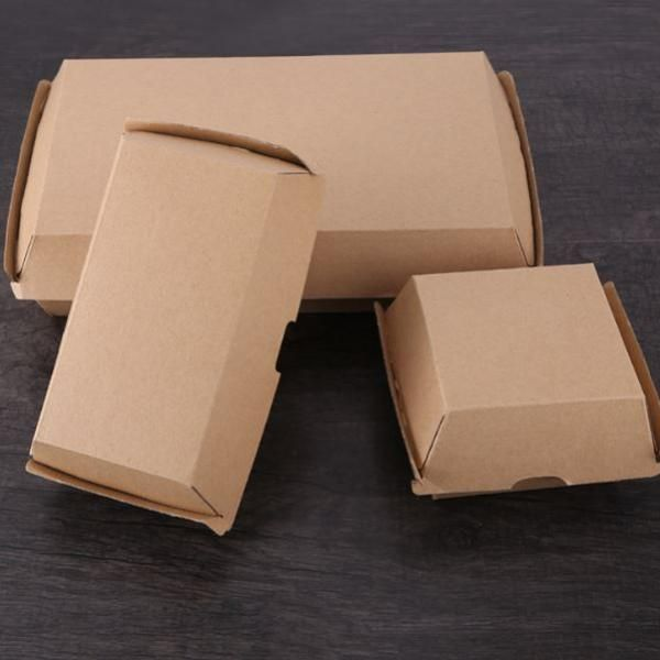 20.5x10.6x7.6cm Kraft Paper Burger or Sandwiches Box Food & Catering Packaging FTF1037-FTF1044-1