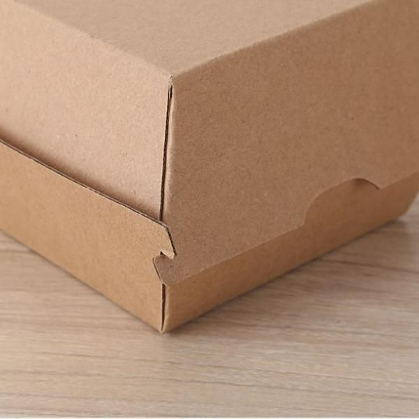 20.5x10.6x7.6cm Kraft Paper Burger or Sandwiches Box Food & Catering Packaging FTF1037-FTF1044-2