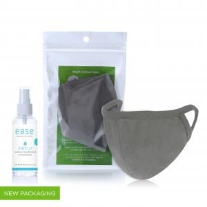 EASE Antimicrobial Corporate Care Pack - Kid Personal Care Products KHO1023EaseAntimicrobialMaskCorporate_Grey