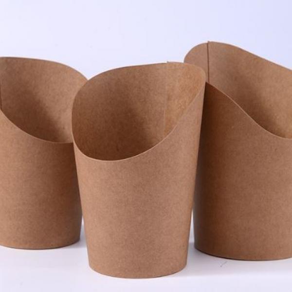 14oz Kraft Paper Fries Packaging Box Food & Catering Packaging FTF1045