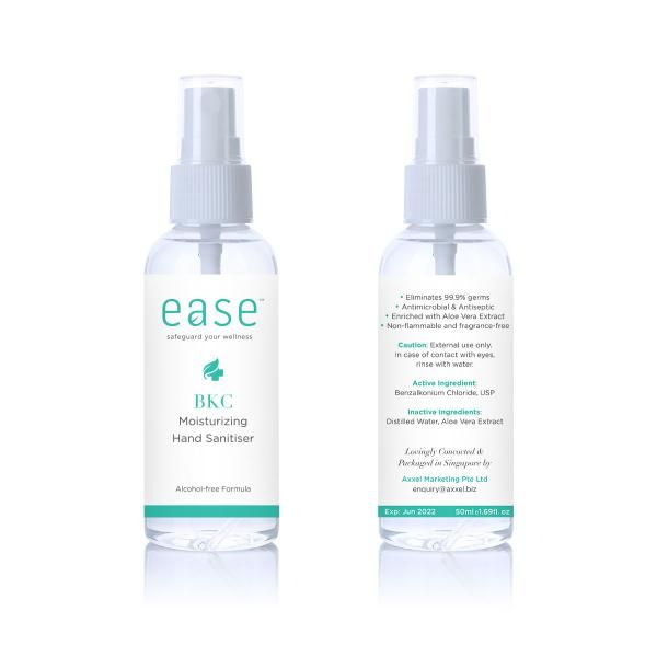 EASE 50ml BKC Hand Sanitizer Personal Care Products AxxelEaseProducts_50mlBKC