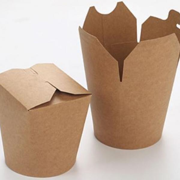 780ml Kraft Paper Take Away Round Box Food & Catering Packaging FTF1023-2