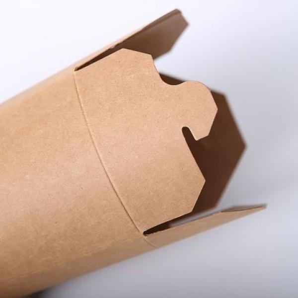 780ml Kraft Paper Take Away Round Box Food & Catering Packaging FTF1023-1