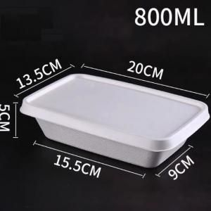 800ml Paper Pulp Lunch Box Food & Catering Packaging FTF1057