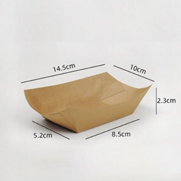 14.5x10x2.3cm Kraft Paper Tray Food & Catering Packaging FTY1000