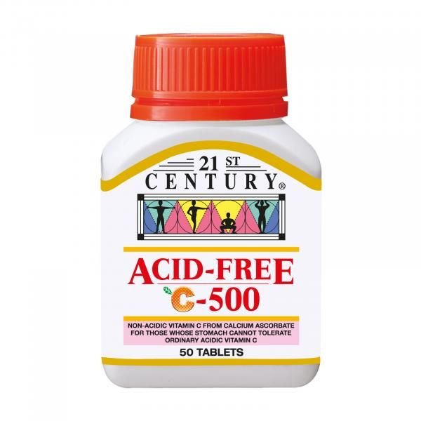 21st Century 50's Acid Free Vitamin C 500mg Food and Drink Supplies 1.BOTTLE-AcidfreeC500mg50sSHS1000