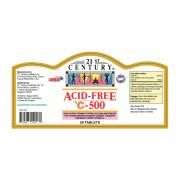 21st Century 50's Acid Free Vitamin C 500mg Food and Drink Supplies 1.LABEL-AcidfreeC500mg50sSHS1000