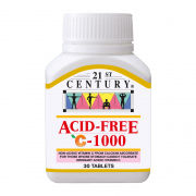 21st Century 30's Acid-Free Vitamin C 1000mg Food and Drink Supplies 2.BOTTLE-AcidFreeC1000mg30sSHS1001
