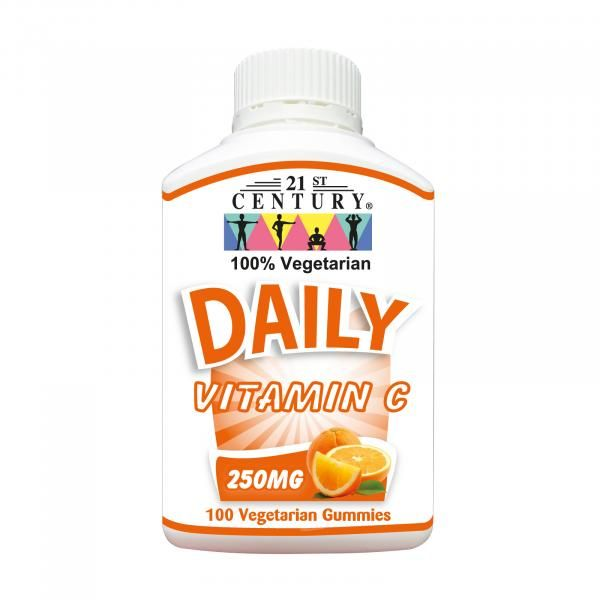 21st Century 100's Daily Vitamin C 250mg Gummies Food and Drink Supplies 8.BOTTLE-DailyC250mggummies100sSHS1007