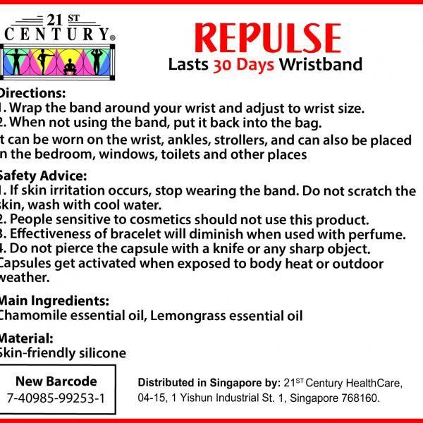 21st Century Mosquito Repellent Bracelet Personal Care Products 13.LABEL-MosquitoRepellentBracelet1SHS1012