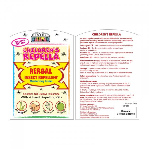 21st Century Children Repella Mosquito Repellent Cream 118ml Personal Care Products 14.LABEL-ChildrenRepellaMosquitoRepellentCream118mlSHS1013