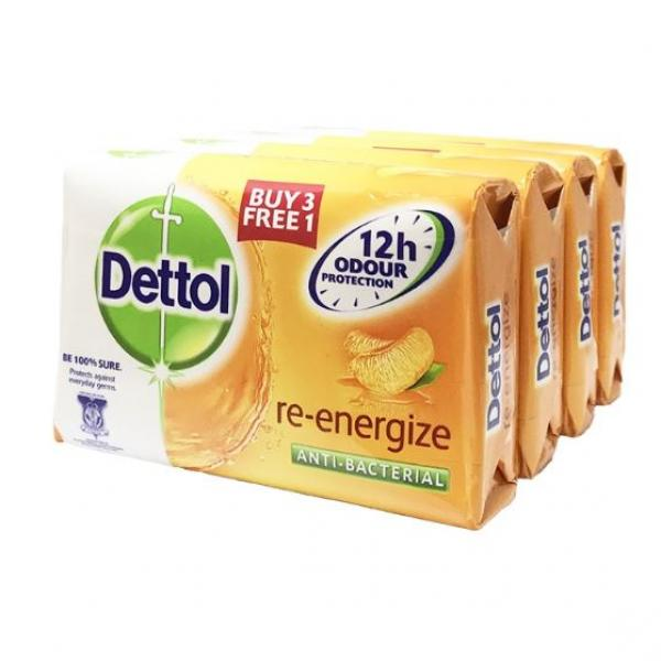 Dettol Body Soap Re-energize 3+1 Personal Care Products kbo1016
