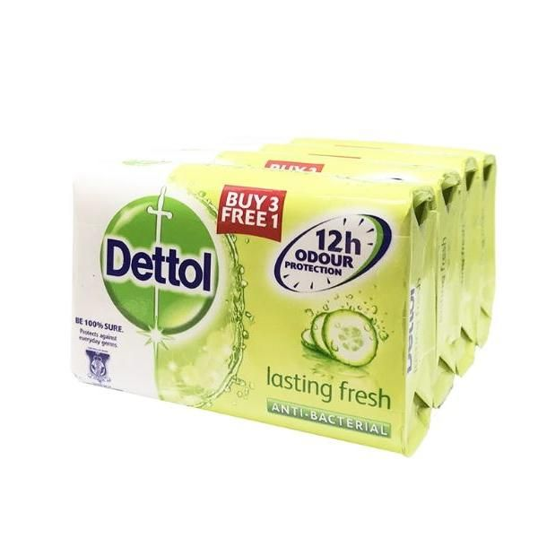 Dettol Body Soap Lasting 3+1 Personal Care Products kbo1019