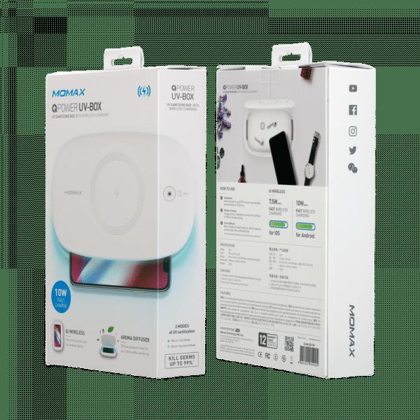 Momax UV Sanitizing Box with Wireless Charging Electronics & Technology QU1_en_12_800x800