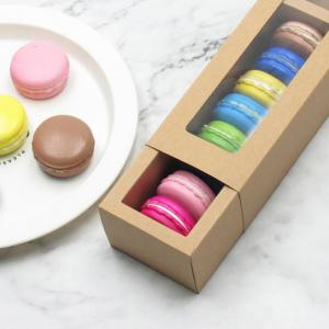 Small Macaron Box With Window Food & Catering Packaging FOF1004