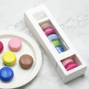 Small Macaron Box With Window Food & Catering Packaging FOF1004-1