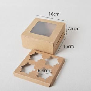 4pcs Cupcakes Box with Window Food & Catering Packaging FOF1007