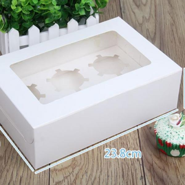 6pcs Cupcakes Box with Window Food & Catering Packaging FOF1008
