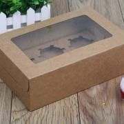 6pcs Cupcakes Box with Window Food & Catering Packaging FOF1008-01