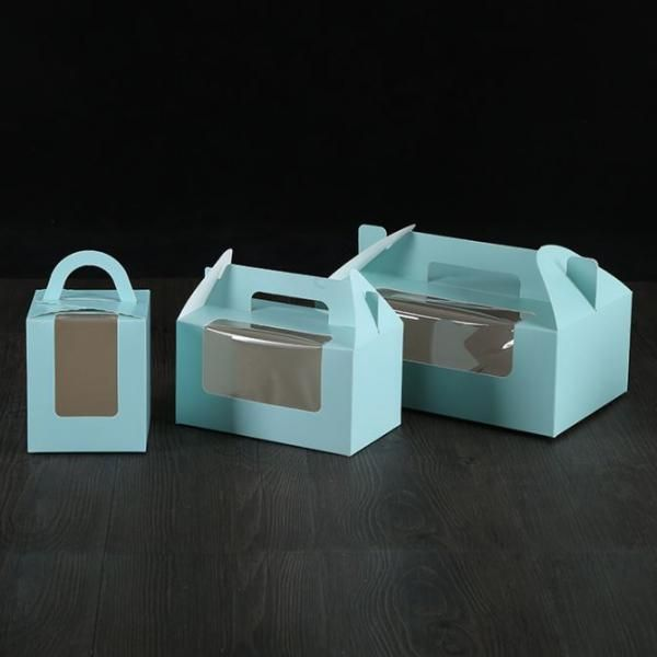 Single Muffin/Cupcakes Box with Handle & Window Food & Catering Packaging Capture