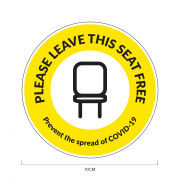 Seat Free Social Distancing Sticker 10*10cm Printing  Display & Signages ZST1003YLW