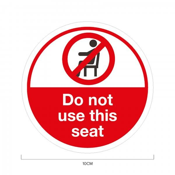 Do Not Sit Social Distancing Sticker 10*10cm Printing  Display & Signages ZST1006RWW