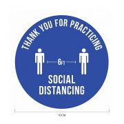6ft Apart Social Distancing Sticker 10*10cm Printing  Display & Signages ZST1010BLU