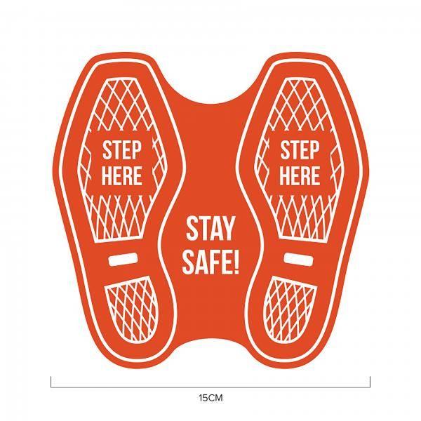 Elevator Social Distancing Sticker 15*15cm Printing  Display & Signages ZST1011RED